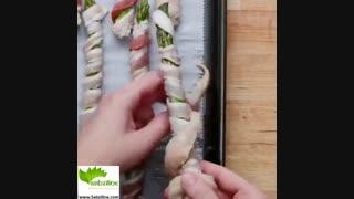 طرز تهیه یک غذای خوشمزه و سالم با مرغ و مارچوبه - سبزی لاین