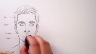 آموزش سریع نقایش چهره  به راحتترین روش