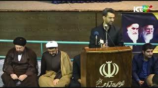وزیر ارتباطات در حسینیه جماران
