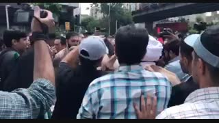 حضور دکتر احمدی نژاد در راهپیمایی روز قدس و استقبال مردم