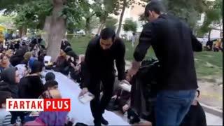 پهن شدن سفره افطار برای ۲ هزار روزه دار تهرانی