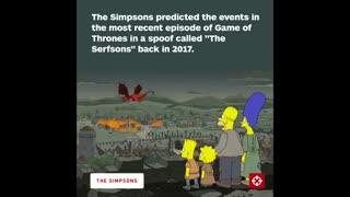 پیش بینی حیرت انگیز انیمیشن سریالی سیمپسونها از فصل هشتم سریال بازی تاج و تخت