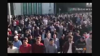 نماز عید سعید فطر در مسجد جامع مسکو با حضور صدها هزار مسلمان پایتخت روسیه