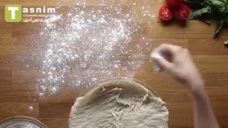 پیتزا خانگی   فیلم آشپزی