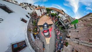 فیلمبرداری 360 با گوپرو هنگام مسابقه Downhill MTB