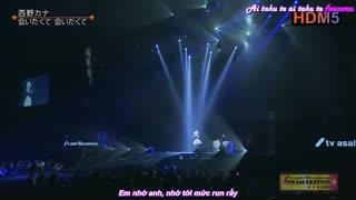 اجرای آهنگ Aitakute Aitakute توسط نیشینو کانا