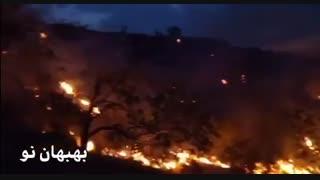 آخرین وضعیت آتش سوزی در کوه های اطراف بهبهان