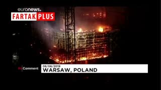 ۱۲۰ آتشنشان، آتش برج ۱۳۰ متری را خاموش کردند