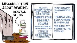 باوری غلط درباره مطالعه کردن