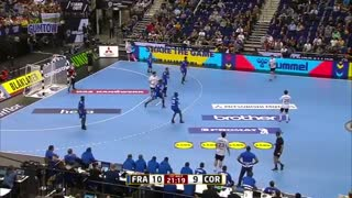 دیدار تیم های هندبال فرانسه و کره در قهرمانی مردان جهان2019