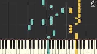 آموزش زدن آهنگ فیک لاو بی تی اس با پیانو