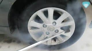شستشو رینگ ماشین با بخار بخارشویی رینگ ماشین