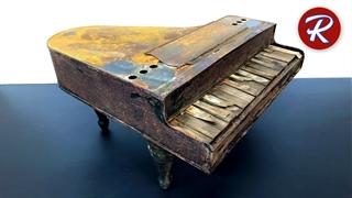 بازسازی اسباب بازی پیانو فلزی