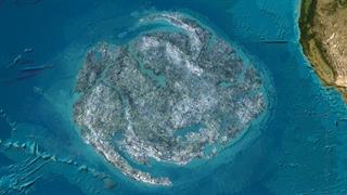 جزیرهای از زباله، وسط اقیانوس آرام