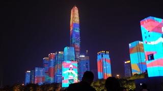 فستیوال نور آسمان خراش های شنژن در چین
