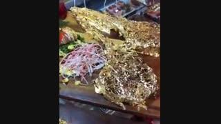 سرو استیک طلا در رستوران های شمال تهران!