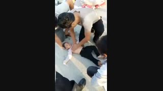 نجات کودک غرق شده چینی با اقدام صحیح و بهنگام