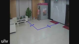 ویژگی هوشمند دوربین های مداربسته یونی ویو: تشخیص عبور از خط