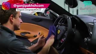 اسپری تمیزکننده قطعات و سطوح پلاستیکی مخصوص خودرو جیون-گنجی پخش