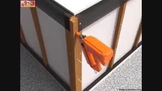 اجرای نمای چوب