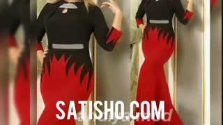 ۵۰ طرح از جدیدترین مدل لباس مجلسی مشکی ۹۸ برای محرم و مراسم ختم