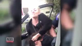 مقاومت دختر20 ساله در برابر پلیس کالیفرنیا ( این ویدئو دارای صحنه های خشن است)
