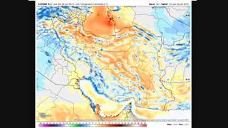 پیش بینی تصویری؛ تحلیل نقشه های هواشناسی طی هفته دوم تیر 98؛