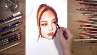 نقاشی جنی عضو BLACKPINK
