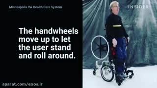 ویلچری که در حالت ایستاده نیز حرکت میکند!!!