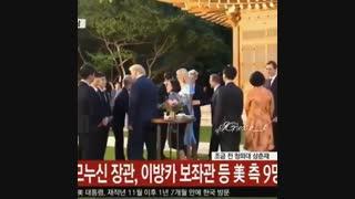 دیدار اکسو با رئیس جمهور امریکا و دخترش ایوانکا ترامپ در کاخ ابی