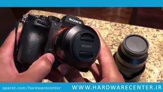 آموزش تعویض لنز دوربین سونی