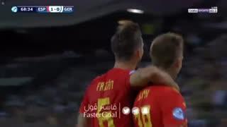 گلهای دیدار اسپانیا 2_1 آلمان ( فینال جام ملتهای اروپا زیر 21 سالهها)