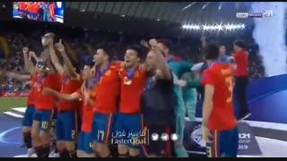 مراسم قهرمانی اسپانیا در جام ملتهای اروپای زیر 21 ساله ها