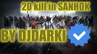 Djdarki in pubg with 20 kill in sanhok