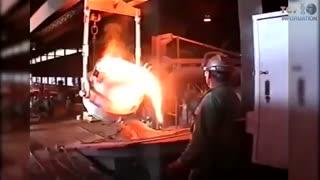 10 حادثه خطرناکی که می تواند در صنایع تولید فولاد رخ دهد.