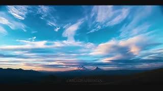 غروب در کوههای آرارات از سمت ماکو
