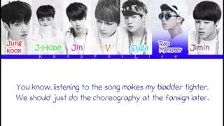 لیریک اهنگ are u happy now  ورژن کره ای از BTS