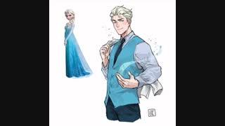 اگه جنسیت شخصیتای انیمیشنی معروف عوض بشه به سبک انیمه ای+پلی کنید^~^