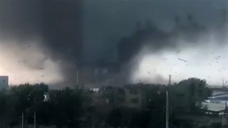 ۶ کشته و ۱۹۰ مصدوم داشت در گردباد عظیم چین