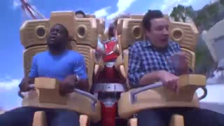 Jimmy and Kevin Hart Ride a Roller Coaster