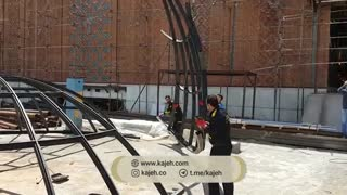 منتاژ فریم گنبد شیشه ای بازار تهران (  پاساژ دلگشا  ) - کاژه