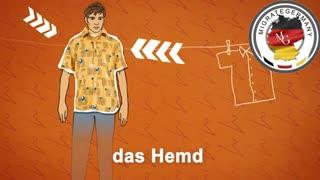 پوشاک به زبان آلمانی - میگریت جرمنی