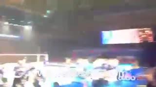 حال و هوای سالن محل برگزاری دیدار تیم های ایران و برزیل