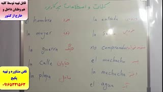سریعترین روش آمادگی جهت آزمون های زبان اسپانیایی - استاد علی کیانپور