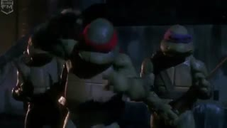 قسمتی ازاولین فیلم لاک پشت های نینجا