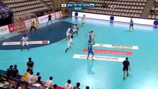 دیدار  تیم های ملی هندبال ژاپن و اسلوونی درقهرمانی جوانان جهان2019