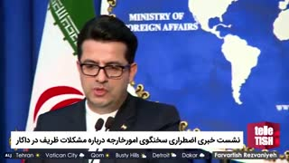 نشست خبری اضطراری سخنگوی امورخارجه درباره مشکلات ظریف در داکار