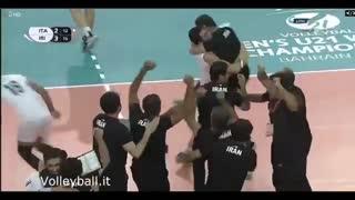 لحظه قهرمانی تیم والیبال زیر 21 سال ایران در جام جهانی والیبال