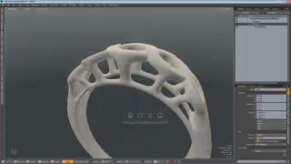 دانلود پکیج ویدیوئی آموزش مدلسازی انگشتر پنج سنگ