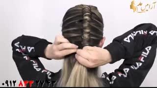 کلیپ  آموزش جدیدترین روش مدل بافت مو  + بافت مو لوله ای